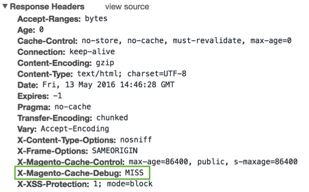 screenshot showing Magento 2 homepage has been loaded after a FPC cache clear